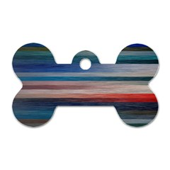 Background Horizontal Lines Dog Tag Bone (one Side) by BangZart