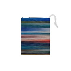Background Horizontal Lines Drawstring Pouches (xs)  by BangZart