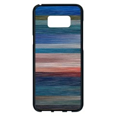 Background Horizontal Lines Samsung Galaxy S8 Plus Black Seamless Case