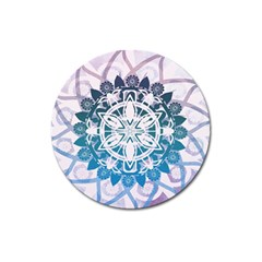 Mandalas Symmetry Meditation Round Magnet 3  (round) by BangZart
