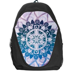 Mandalas Symmetry Meditation Round Backpack Bag by BangZart