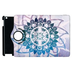 Mandalas Symmetry Meditation Round Apple Ipad 2 Flip 360 Case by BangZart