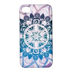 Mandalas Symmetry Meditation Round Apple Iphone 4/4s Hardshell Case With Stand by BangZart