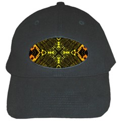 Abstract Glow Kaleidoscopic Light Black Cap by BangZart