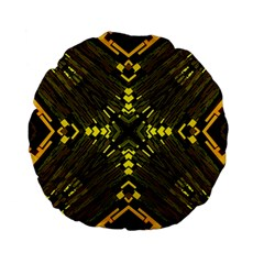 Abstract Glow Kaleidoscopic Light Standard 15  Premium Flano Round Cushions by BangZart
