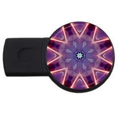 Abstract Glow Kaleidoscopic Light Usb Flash Drive Round (4 Gb) by BangZart