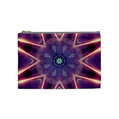 Abstract Glow Kaleidoscopic Light Cosmetic Bag (medium)  by BangZart