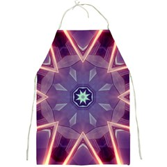 Abstract Glow Kaleidoscopic Light Full Print Aprons by BangZart