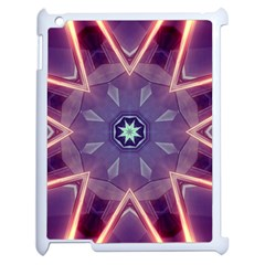 Abstract Glow Kaleidoscopic Light Apple Ipad 2 Case (white) by BangZart
