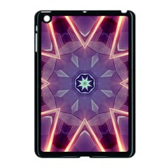 Abstract Glow Kaleidoscopic Light Apple Ipad Mini Case (black) by BangZart