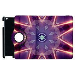 Abstract Glow Kaleidoscopic Light Apple Ipad 3/4 Flip 360 Case by BangZart