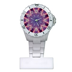 Abstract Glow Kaleidoscopic Light Plastic Nurses Watch