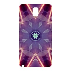 Abstract Glow Kaleidoscopic Light Samsung Galaxy Note 3 N9005 Hardshell Back Case by BangZart