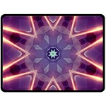 Abstract Glow Kaleidoscopic Light Double Sided Fleece Blanket (Large)  80 x60  Blanket Back