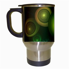 Retrotacular Rainbow Dots In A Fractal Microscope Travel Mugs (white) by jayaprime