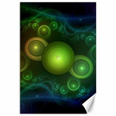 Retrotacular Rainbow Dots In A Fractal Microscope Canvas 12  X 18   by jayaprime