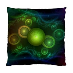 Retrotacular Rainbow Dots In A Fractal Microscope Standard Cushion Case (one Side) by jayaprime