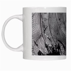 Fragmented Fractal Memories And Gunpowder Glass White Mugs by jayaprime