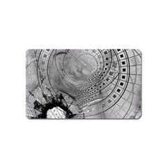 Fragmented Fractal Memories And Gunpowder Glass Magnet (name Card) by jayaprime