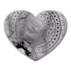 Fragmented Fractal Memories And Gunpowder Glass Heart Mousepads by jayaprime