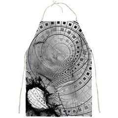 Fragmented Fractal Memories And Gunpowder Glass Full Print Aprons by jayaprime