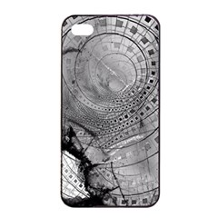 Fragmented Fractal Memories And Gunpowder Glass Apple Iphone 4/4s Seamless Case (black) by jayaprime