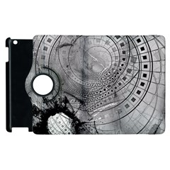 Fragmented Fractal Memories And Gunpowder Glass Apple Ipad 2 Flip 360 Case by jayaprime