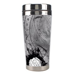 Fragmented Fractal Memories And Gunpowder Glass Stainless Steel Travel Tumblers by jayaprime