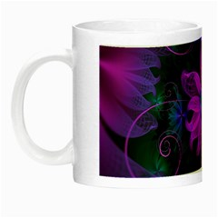 Beautiful Ultraviolet Lilac Orchid Fractal Flowers Night Luminous Mugs by jayaprime