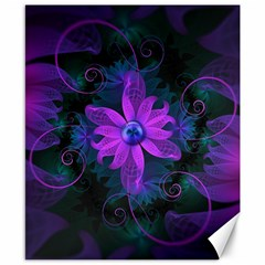 Beautiful Ultraviolet Lilac Orchid Fractal Flowers Canvas 8  X 10