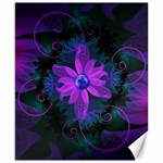 Beautiful Ultraviolet Lilac Orchid Fractal Flowers Canvas 8  x 10  10.02 x8 Canvas - 1