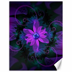Beautiful Ultraviolet Lilac Orchid Fractal Flowers Canvas 12  X 16   by jayaprime