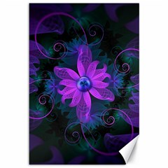 Beautiful Ultraviolet Lilac Orchid Fractal Flowers Canvas 12  X 18   by jayaprime