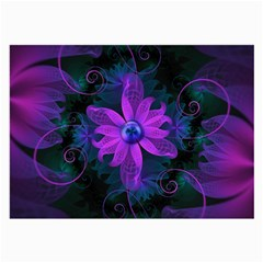 Beautiful Ultraviolet Lilac Orchid Fractal Flowers Large Glasses Cloth by jayaprime