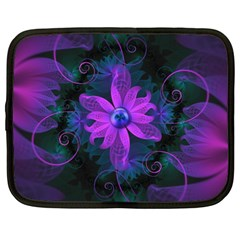 Beautiful Ultraviolet Lilac Orchid Fractal Flowers Netbook Case (xl)  by jayaprime