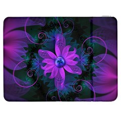Beautiful Ultraviolet Lilac Orchid Fractal Flowers Samsung Galaxy Tab 7  P1000 Flip Case by jayaprime