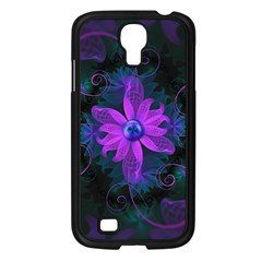 Beautiful Ultraviolet Lilac Orchid Fractal Flowers Samsung Galaxy S4 I9500/ I9505 Case (black) by jayaprime