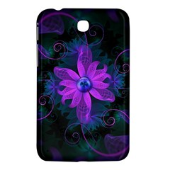 Beautiful Ultraviolet Lilac Orchid Fractal Flowers Samsung Galaxy Tab 3 (7 ) P3200 Hardshell Case  by jayaprime