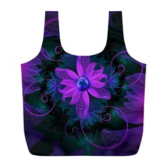 Beautiful Ultraviolet Lilac Orchid Fractal Flowers Full Print Recycle Bags (l)  by jayaprime