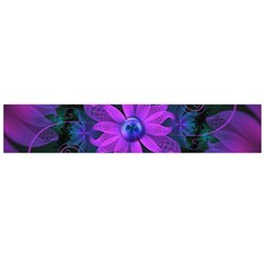 Beautiful Ultraviolet Lilac Orchid Fractal Flowers Flano Scarf (large) by jayaprime