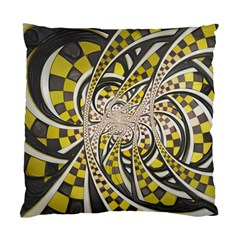 Liquid Taxi Cab, A Yellow Checkered Retro Fractal Standard Cushion Case (one Side) by jayaprime