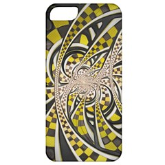 Liquid Taxi Cab, A Yellow Checkered Retro Fractal Apple Iphone 5 Classic Hardshell Case by jayaprime