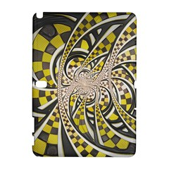 Liquid Taxi Cab, A Yellow Checkered Retro Fractal Galaxy Note 1 by jayaprime