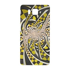Liquid Taxi Cab, A Yellow Checkered Retro Fractal Samsung Galaxy Alpha Hardshell Back Case by jayaprime