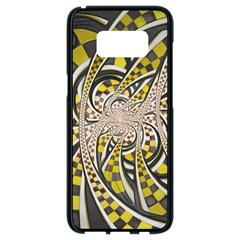 Liquid Taxi Cab, A Yellow Checkered Retro Fractal Samsung Galaxy S8 Black Seamless Case by jayaprime
