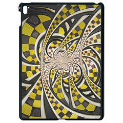 Liquid Taxi Cab, A Yellow Checkered Retro Fractal Apple Ipad Pro 9 7   Black Seamless Case