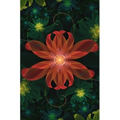 Beautiful Red Passion Flower In A Fractal Jungle 5 5  X 8 5  Notebooks by jayaprime