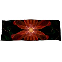 Beautiful Red Passion Flower In A Fractal Jungle Body Pillow Case Dakimakura (two Sides) by jayaprime
