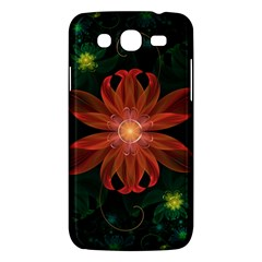 Beautiful Red Passion Flower In A Fractal Jungle Samsung Galaxy Mega 5 8 I9152 Hardshell Case  by jayaprime