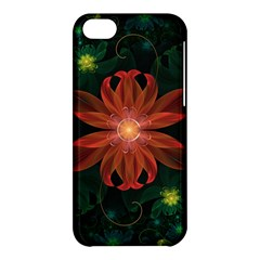 Beautiful Red Passion Flower In A Fractal Jungle Apple Iphone 5c Hardshell Case by jayaprime
